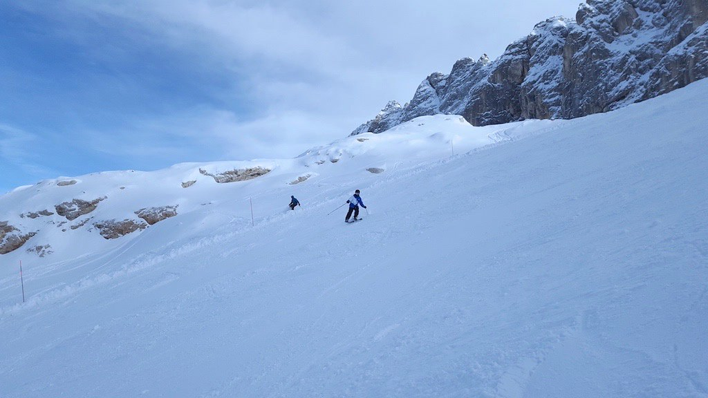 Skiing Down A Glacier
