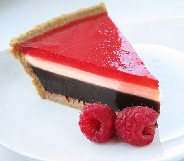 Raspberry Chocolate Pudding Pie