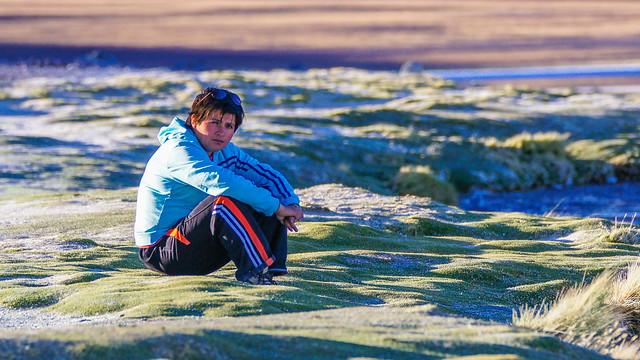 Janeth, the Bolivian guide of South Lipez, Laguna Colorada DSC02616.jpg