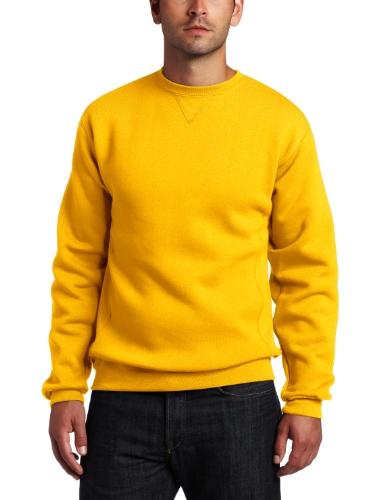 Russell Athletic Men's Dri Power Fleece Crewneck Sweatshirt, Gold, X-Large Reviews