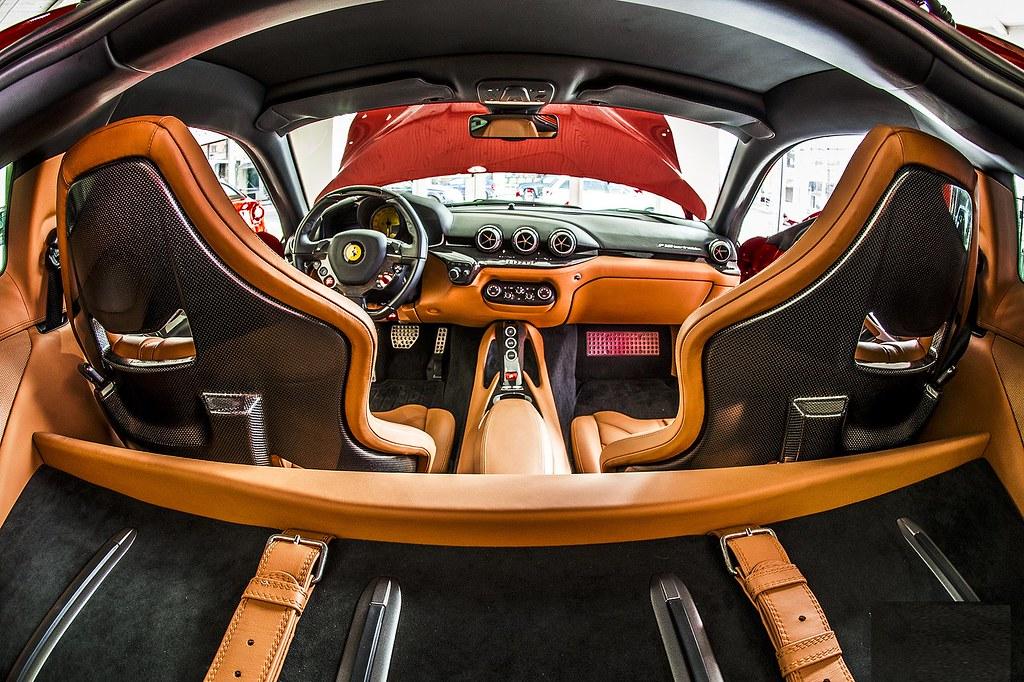 Ferrari F12 Berlinetta interior from behind