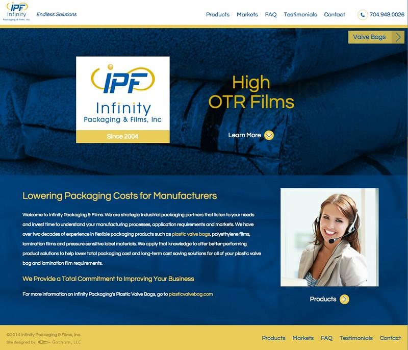 Infinity Packaging & Films Website