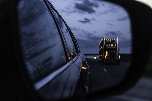 road trip usa reflection car canon mirror