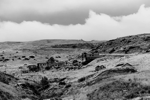 summer sky blackandwhite storm building abandoned weather horizontal clouds rural vintage landscape scenery montana unitedstates hill vegetation northamerica ghosttown coal telephonepole bearcreek tipple beartoothmountains carboncounty smithmine 4cornersphoto