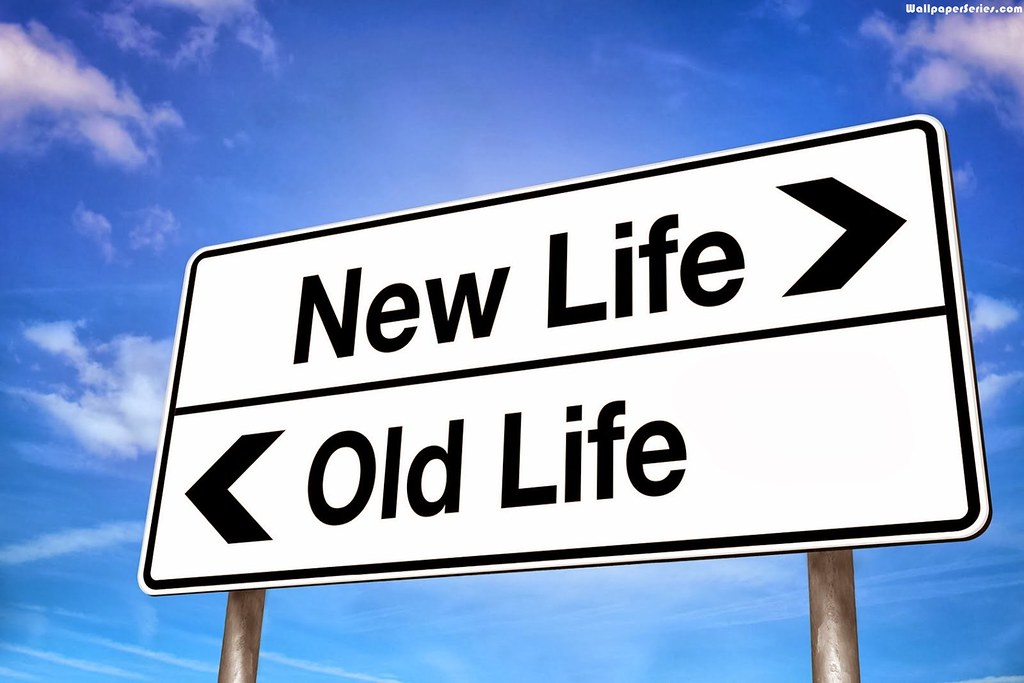 New Life Old Life Quote Sign Board Hd Wallpaper Stylish