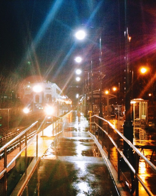 """Sounder North in the Rain in """"Kodachrome"""""""