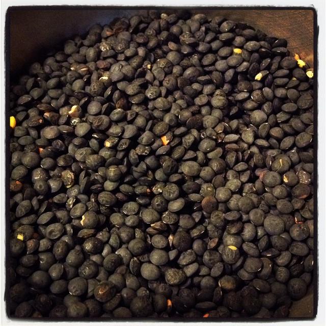 Black lentils #dispensa