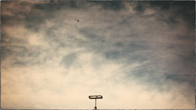 flap-flap in a wide open sky
