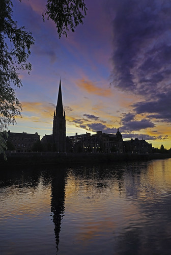 sunset sky reflection tree church water clouds scotland rivertay sony perthshire perth alpha taystreet