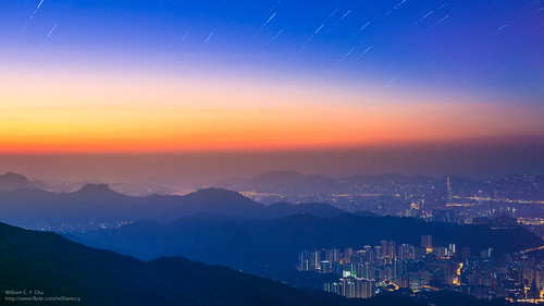 sunrise landscape hongkong dawn cityscape kowloon startrails newterritories taimoshan