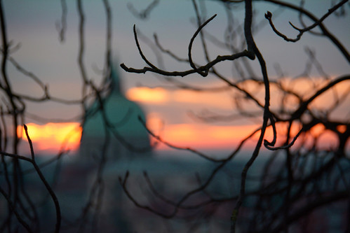 sunset landscape tramonto cupola udine