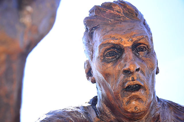 Lionel Messi bronze statue on the Street Of Heroes, Buenos Aires, Argentina