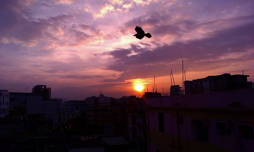 city sky cloud sun black building bird nature beautiful beauty night sunrise natural dhaka bangladesh hdr