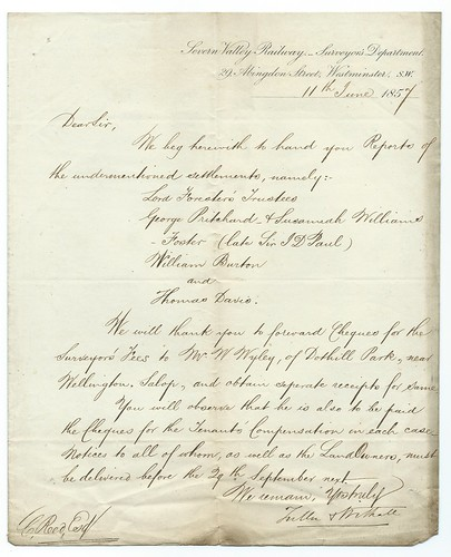 Severn Valley Railway letter of 1857 | by ian.dinmore