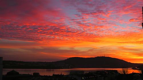 sunset sky estuary cielo coastline puestadesol ría costadegalicia