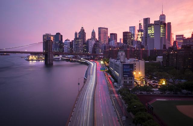 Brooklyn Bridge Sunset, NYC