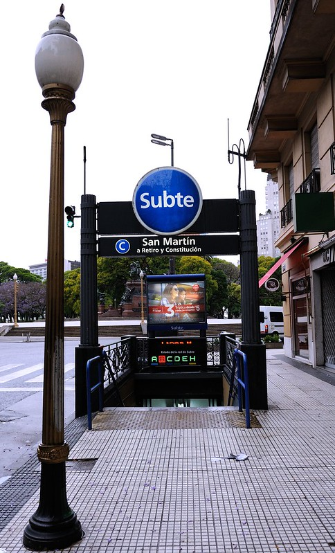 Subte metro entrance in Buenos Aires, Argentina