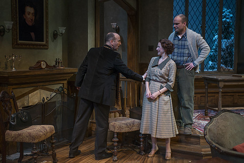 (L-r) Joe Dempsey (Mr. Paravicini), Cora Vander Broek (Mollie Ralston), and Keith Neagle (Giles Ralston)