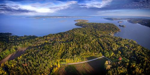 panorama water norway sunrise norge moss fjord oslofjord oslofjorden østfold jeløy jeløya multirotor multicopter panasonicgh3 tarott960