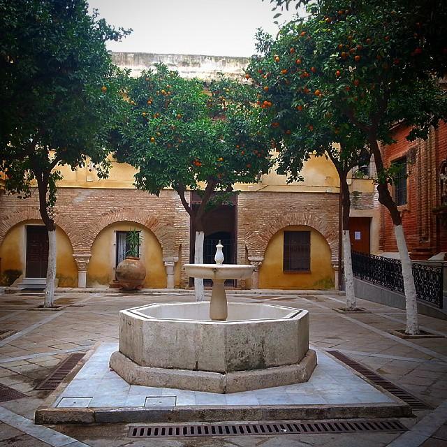 Patio de los naranjos de la iglesia del Salvador. Sevilla … | Flickr