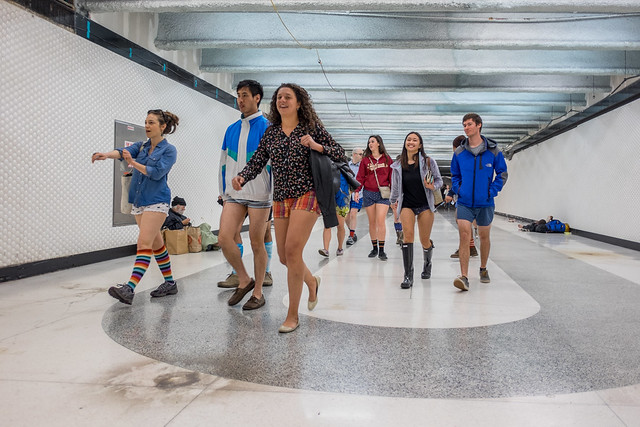 No Pants Subway Ride 2015: caramelize prudishness