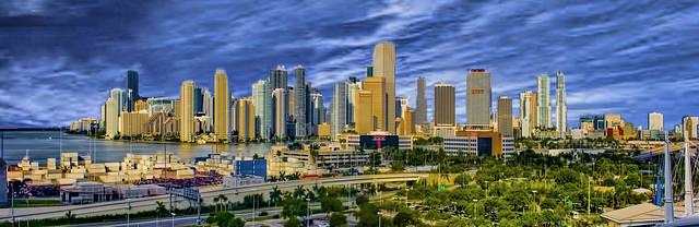 View of downtown Miami, Florida, U.S.A. / The Magic City