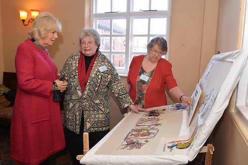 Shirley, Camilla, Jenny and the display | by Stamford Bridge Tapestry Project