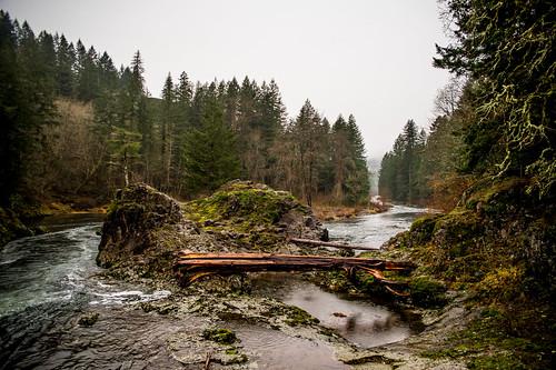 winter cold tree river washington unitedstates falls waterfalls lucia battleground yacolt