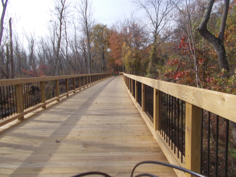 New bridge on the Mount Vernon Trail