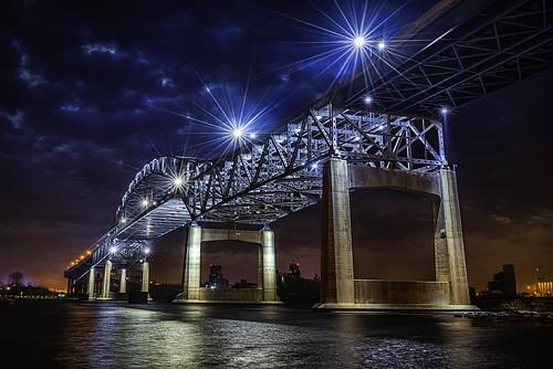 city bridge lake cold minnesota architecture night lens lights star superior duluth flair blatnik