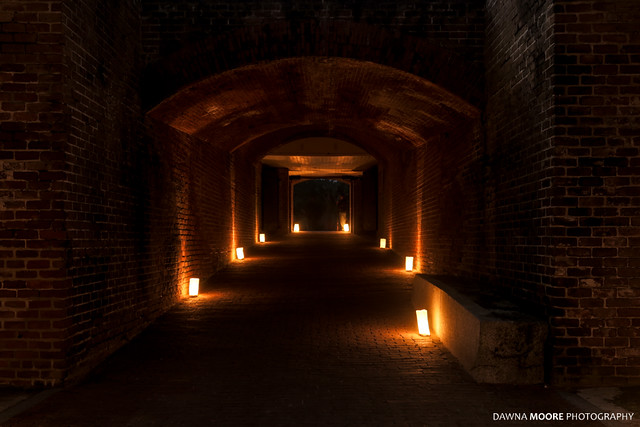 Illuminated Tunnel, Fort Clinch State Park, Florida