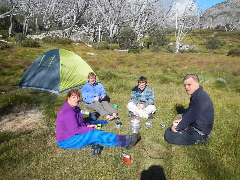 Campsite at Tawonga Huts
