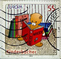 *April 2nd*International Children's Book Day* great stamp Germany 55c (children's book, livre pour enfants, Kinderbücher, fairy tale, Märchen, conte de fées, el cuento, favola, 虚构, conto, ска́зка, bajka) timbres Allemagne sellos Alemanha selos Alemania