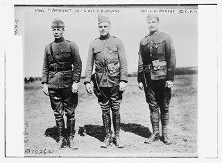 Maj. T. [Theodore] Roosevelt, Jr. -- Lieut. C.R. Holmes -- Sgt. J.A. Murphy (LOC)