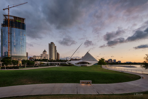 landscape architecture dawn sunrise contemporary lakemichigan milwaukee wisconsin nikon d750 hdr markadsit