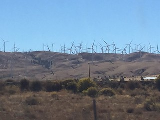 Windmills on the way to Zzyzx mammal tracking class | by mikebaird