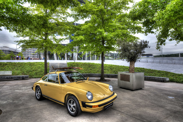 Happy Birthday to Mercedes Museum from Porsche - Stuttgart - Germany