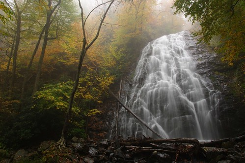 blue autumn mountains fall water colors fog landscape photography waterfall nc pentax hiking north falls foliage ridge trail parkway carolina appalachian 15mm blueridge crabtree milepost 3395 k5ii