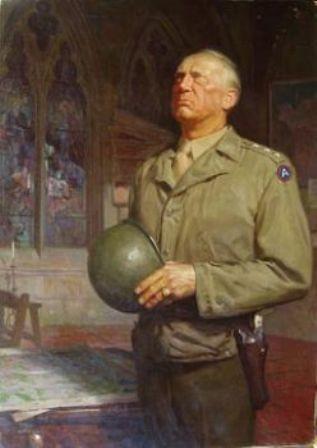 Representación del General Patton rezando