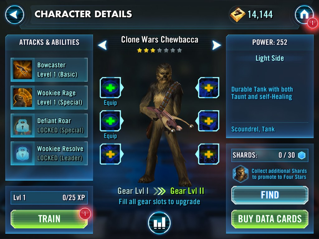 Star Wars: Galaxy of Heroes   UX Examples (Mobile Games