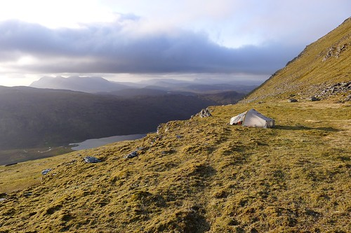 Wild camp above Loch a' Bhraoin | by Nick Bramhall