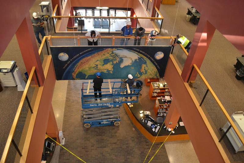 06.13.16 Kingman Mural Installation at W. Dale Clark Main Library