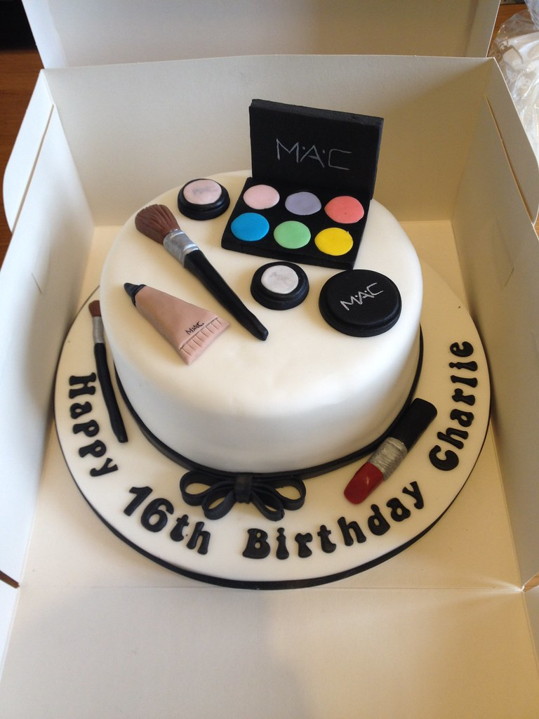 MAC makeup themed birthday cake. | by Sugardust Cakes