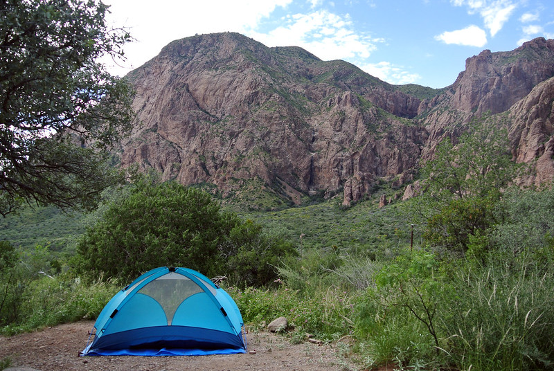 campsite at Chisos Basin