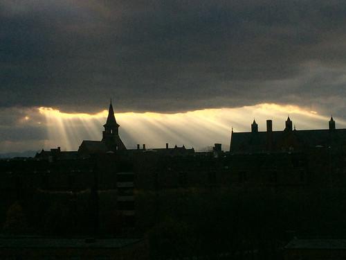 sunset clouds burlington vermont lakechamplain universityofvermont raysofgod iphone6plus