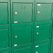 Tall green locker unit