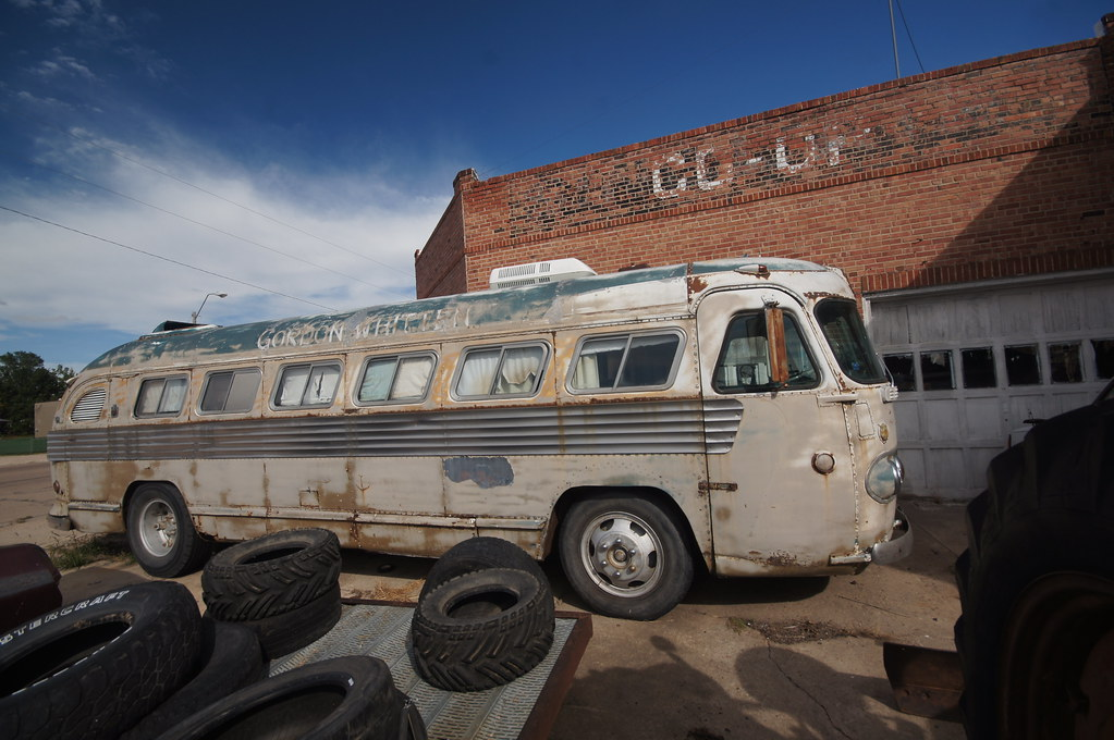Flxible Bus | Loup City, Nebraska: The name on the bus is Go