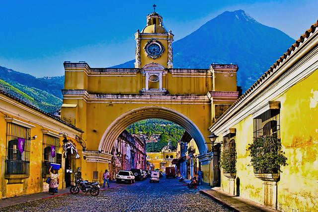 Santa Catalina Arch, Antigua, Guatemala, Central America