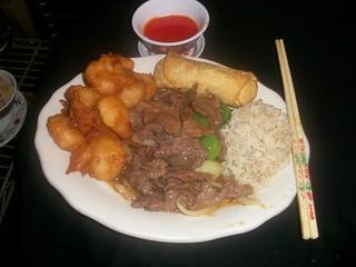 C12 Pepper Steak and 10pc Fried Shrimp   by Golden Gate Chinese Restaurant