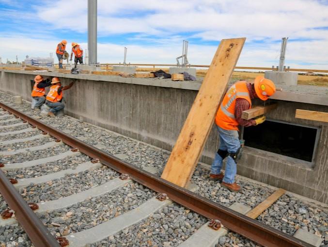 Photo of station platform construction | Regional